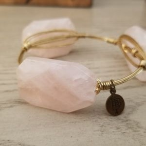 Bourbon and bowie pink stone bracelet